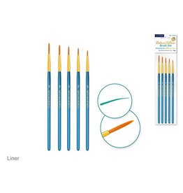 Canva Deluxe Taklon Brush Sets x5 Wood Handle - Liner