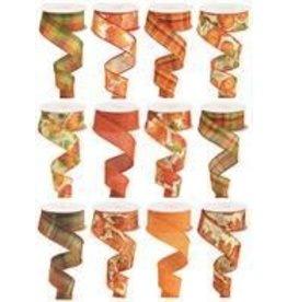 """1.5""""X10yd Fall Assortment 12 Assorted Styles"""