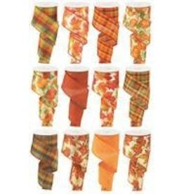 """2.5""""X10yd Fall Assortment 12 Assorted Styles"""