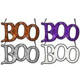 """14.5""""L """"Boo"""" Word Sign 4 Assorted Colors"""