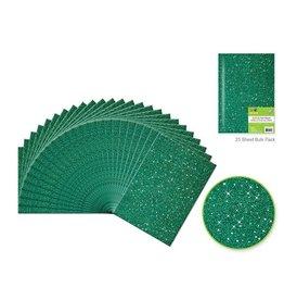 """9""""x12"""" Glitter Bar-Coded Sheets - Hunter Green"""