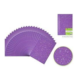 "Felt Squares: 9""x12"" Glitter Bar-Coded Sheets - Purple"
