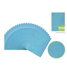"Felt Squares: 9""x12"" Glitter Bar-Coded Sheets - Ice Blue"