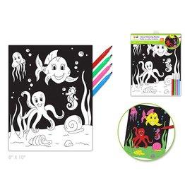 Velvet Colouring Poster - Under the Sea
