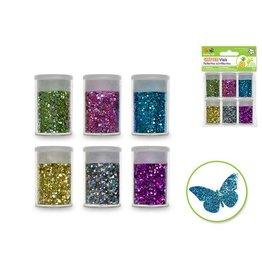 Multi Craft Glitter Vials - Metallic Jewel Asst