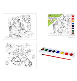 MultiCraft Watercolour Painting Set - Kittens