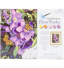 "Paint Works Paint By Number Kit 11""X14"" Clematis & Butterflies"