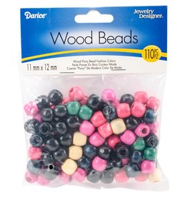 Wood Pony Beads 11mmX12mm 110/Pkg Fashion