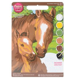 "Paint Works Paint By Number Kit 8""X10"" Pony & Mother"