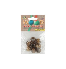 Round Wood Beads 20mm 8/Pkg Walnut