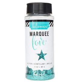 Heidi Swapp Marquee Love Chunky Glitter 3 Ounces/Jar Teal