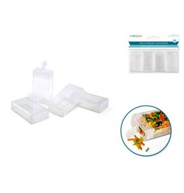 "MultiCraft Mini Storage Containers 2""x1""x0.5"" (4pc)"
