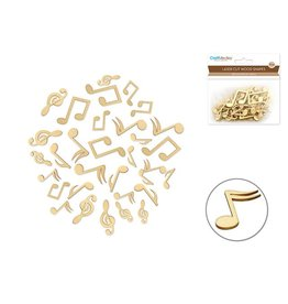 Wood Craft: Laser-Cut Wood Shapes - Music Notes