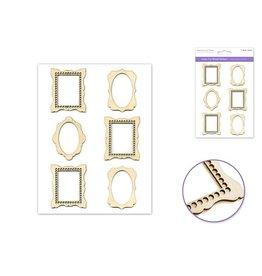 "Laser Cut Wood Stickers 5""x8""  Frame Medley"