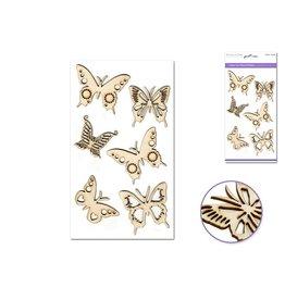 """Laser Cut Wood 4.5""""x7.7"""" - Butterflies"""