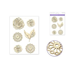 """Laser Cut Wood Stickers 5""""x8"""" -Floral Medley"""