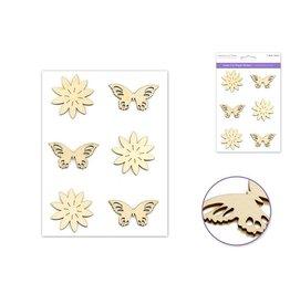 """Laser Cut Wood Stickers 5""""x8"""" - Butterfly"""