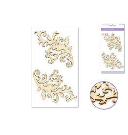 """Laser Cut Wood 4.5""""x7.7"""" - Florets"""