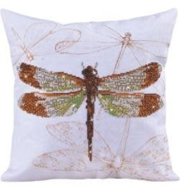 "Diamond Dotz Diamond Embroidery Pillow Facet Art Kit Dragonfly Earth (17.5""X17.5"")"