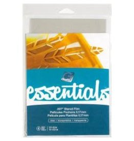 "Grafix Essentials Stencil Film 5.5""X8.5"" 4/Pkg Clear .007"""