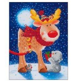 "Diamond Dotz Diamond Embroidery Facet Art Kit 13.75""X17"" Reindeer Gift"
