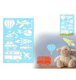 "7.5""x11"" Multi-Media Stencil - Transportation"