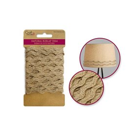 Craft Décor Ribbons: Natural Burlap Trim -5mm Wave
