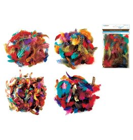 3g Feathers Colored Minis Asst 4styles