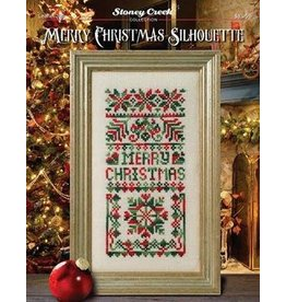 Merry Christmas Silhouette Counted Cross Stitch Pattern