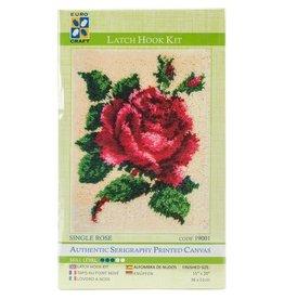 """Euro Craft """"Single Rose"""" Latch Hook Kit"""