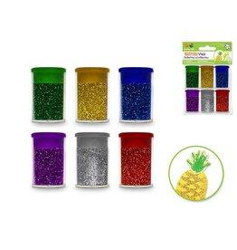 Multi Craft 30G Glitter Vials 6X5G Asst W/Cap Metallic Asst