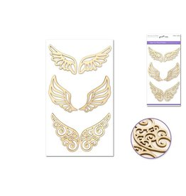 Multi Craft Laser-Cut Wood Stickers - Wings