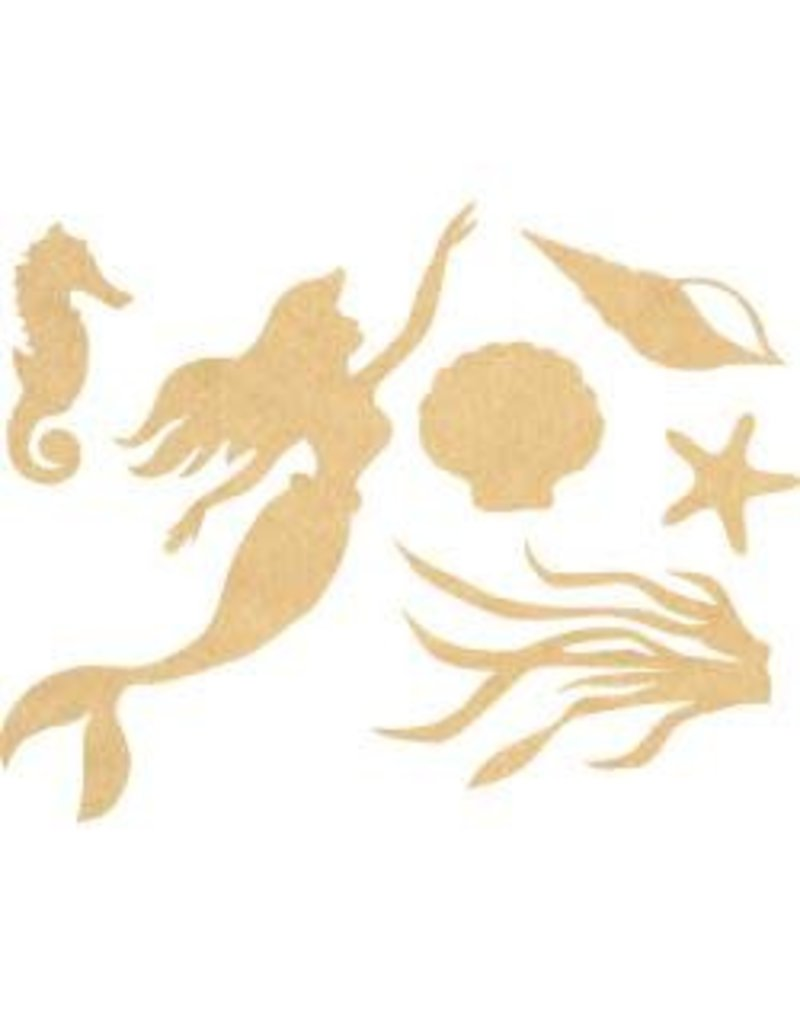 Beyond The Page MDF Mermaid Wall Art 12.75\