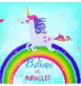 "Diamond Dotz Diamond Embroidery Facet Art Kit 13.8"" X 13.8"" Believe In Miracles"