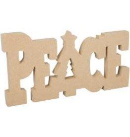 "MDF Peace Word 6""x11.25"""