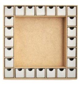 "Beyond The Page MDF Square Shadow Box Advent Calendar 13""X13"" (1.5""X1.5""X1.5"" Drawers)"