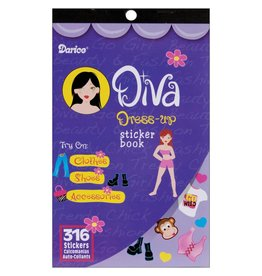 "Sticker Book 9.5""X6"" Diva Dress-Up 316/Pkg"
