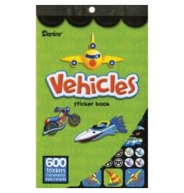 "Sticker Book 9.5 Sticker Book 9.5""X6"" Vehicles 600/Pkg"