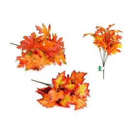 "Enchanted Garden: 12"" Fall Leaves Bush x6 (12 Leaves)"