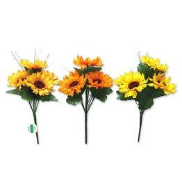 """Enchanted Garden: 10"""" Sunflower Bush x5 w/Grass"""