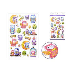"Paper Craft Sticker: 5.5""x8.25"" Foil Fun Owl Frenzy"