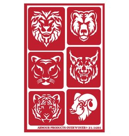 Over & Over Over & Over Stencil -Exotic Animals