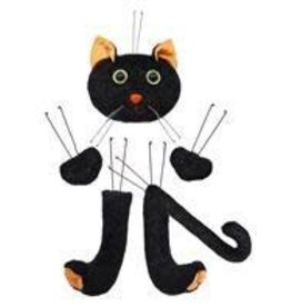 "6 Pc 18.5""H Black Cat Decor Kit"