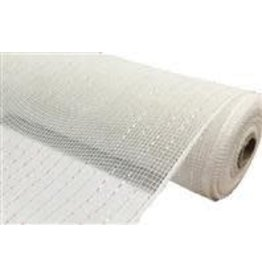"Craig Bachman 10""X10yd Metallic Value Mesh White/Iridescent Foil"