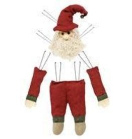 "4Pc 25""H Country Santa Decor Kit"