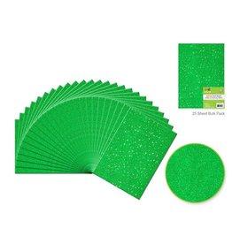 "Felt Squares: 9""x12"" Glitter Bar-Coded Sheets - Emerald Green"