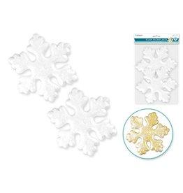 """Polyfoam Snowflake: 5.75""""x5/8"""" 2pc"""