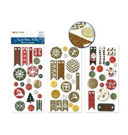 8cmx19.5cm Tags & Buttons Medley Self-Stick Asst12eax3styles