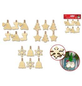 MultiCraft DIY Wood Clothespins
