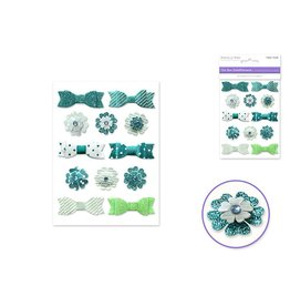 Forever in Time Chic Bow Embellishments - Turquoise